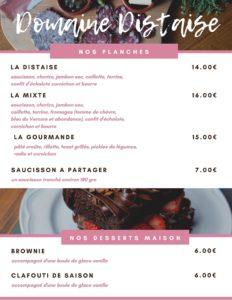 Carte Brasserie 1/2